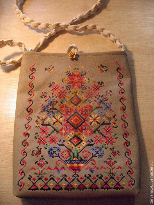 Женские сумки ручной работы. Ярмарка Мастеров - ручная работа. Купить Выщитая сумочка. Handmade. Разноцветный, орнамент, сумочка