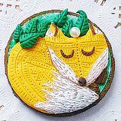 Сувениры и подарки ручной работы. Ярмарка Мастеров - ручная работа Лисичка - Магнит деревянный - Сувенир. Handmade.