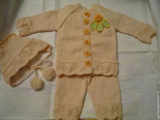 """Одежда для девочек, ручной работы. Ярмарка Мастеров - ручная работа. Купить Детский костюмчик """"Цветочек"""". Handmade. Бежевый, одежда для детей"""