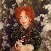 Куклы и игрушки ручной работы. Ярмарка Мастеров - ручная работа Новогодняя история ( кукла с овечкой). Handmade.