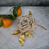 Цветы и флористика handmade. Livemaster - original item Leather flowers. Rosa