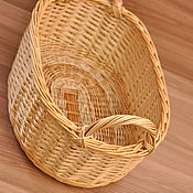 Для дома и интерьера ручной работы. Ярмарка Мастеров - ручная работа Поднос для кухни плетёный с ручками, глубокий, овальный из ивовой лозы. Handmade.