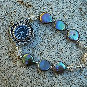 Украшения handmade. Livemaster - original item Bracelet with clock and black pearls.. Handmade.