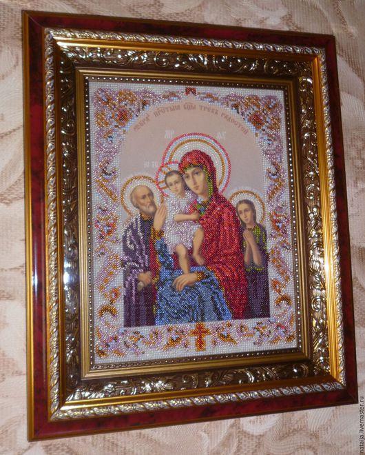 Иконы ручной работы. Ярмарка Мастеров - ручная работа. Купить икона Богородица Трех радостей. Handmade. Разноцветный, богородица, багет