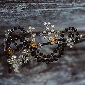 Украшения handmade. Livemaster - original item Headband. Tiara an asymmetrical. Black and gold.. Handmade.