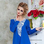 """Одежда ручной работы. Ярмарка Мастеров - ручная работа Платье свободного кроя """"Синяя радуга"""". Handmade."""