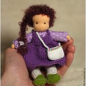Куклы и игрушки ручной работы. Ярмарка Мастеров - ручная работа Мини-куколка на каркасе, 13см. Handmade.