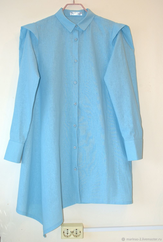 Рубашка - платье лён, Рубашки, Нижний Новгород,  Фото №1