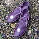 """Обувь ручной работы. Ярмарка Мастеров - ручная работа. Купить Кожаные сандалии """"Purple Dream"""". Handmade. Тёмно-фиолетовый"""