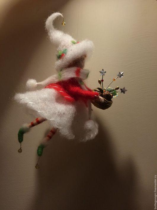Коллекционные куклы ручной работы. Ярмарка Мастеров - ручная работа. Купить Валяние Девочка с лукошком. Handmade. Разноцветный, коллекционные куклы