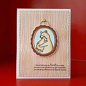 """Открытки ручной работы. Ярмарка Мастеров - ручная работа Открытка для мамы """"Семейный портрет"""". Handmade."""