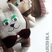 Мягкие игрушки ручной работы. Ярмарка Мастеров - ручная работа Кот-бегемот с подругой. Handmade.