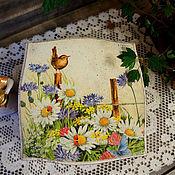 """Для дома и интерьера ручной работы. Ярмарка Мастеров - ручная работа Короб для чайных пакетиков """"Утро"""". Handmade."""