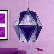 Для дома и интерьера handmade. Livemaster - original item Hanging Geometric Purple Glass Lamp. Handmade.