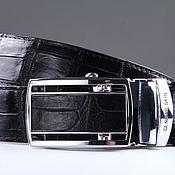 Аксессуары handmade. Livemaster - original item Crocodile leather belt IMA3020B. Handmade.