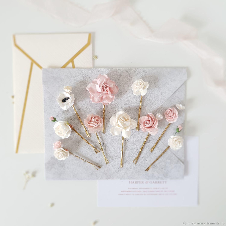Невидимки в прическу pink pale, Украшения, Краснодар, Фото №1