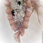 Аксессуары ручной работы. Ярмарка Мастеров - ручная работа Палантин валяный шелковый Жемчужно-розовый. Handmade.