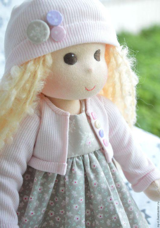 Вальдорфская игрушка ручной работы. Ярмарка Мастеров - ручная работа. Купить Весенняя девочка. Handmade. Бледно-розовый, кукла блондинка