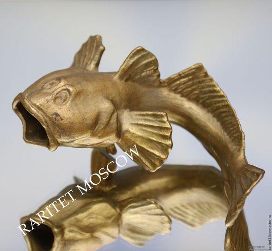 Винтажные предметы интерьера. Ярмарка Мастеров - ручная работа. Купить Рыба сом статуэтка пепельница бронза латунь 4. Handmade.