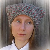 Аксессуары ручной работы. Ярмарка Мастеров - ручная работа Двойная вязаная теплая шапка-папаха Мороз в лесу. Handmade.