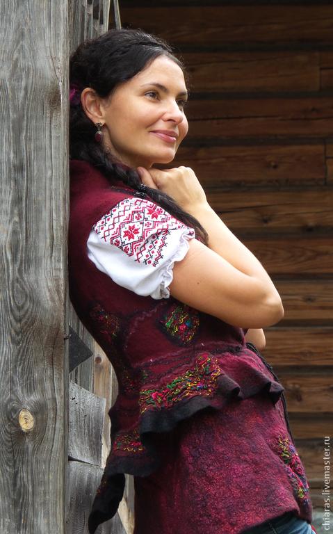 Пиджаки, жакеты ручной работы. Ярмарка Мастеров - ручная работа. Купить Жакетик в народном стиле. Handmade. Жакет в народном стиле