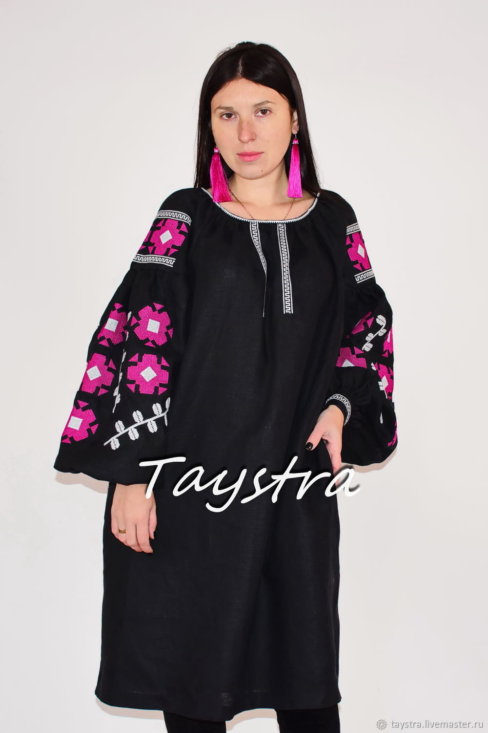 Black Dress Vyshyvanka Ukrainian embroidery, Dresses, Chernovtsy,  Фото №1