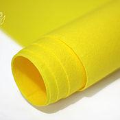 Материалы для творчества ручной работы. Ярмарка Мастеров - ручная работа Фетр под термотрансферярко-жёлтый жесткий 1,0 мм. Handmade.