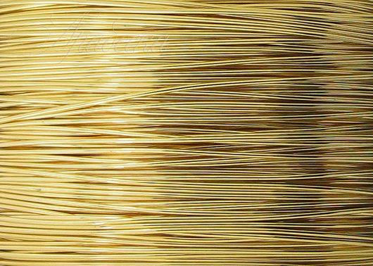 Проволока золотая Gold Filled мягкая 0.33мм Beadsmith (США) 0.5м