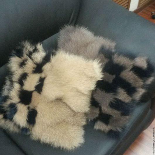 Текстиль, ковры ручной работы. Ярмарка Мастеров - ручная работа. Купить Подушки из натурального меха песца. Handmade. Подушки