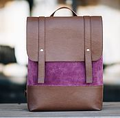Сумки и аксессуары handmade. Livemaster - original item Leather backpack for women