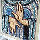 Символизм ручной работы. Римская мозаика (реплика). Ксения. Интернет-магазин Ярмарка Мастеров. Подарок, декор интерьера, мозаика из камня