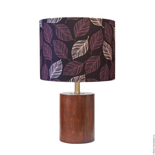 Настольная лампа из коллекции Стебель. Моменты.. Оригинальная, дизайнерская настольная лампа, абажур с принтом. Подарок для дома, подарок на свадьбу и новоселье.