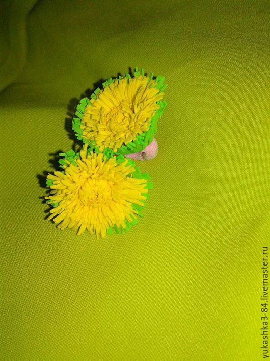 Заколки ручной работы. Ярмарка Мастеров - ручная работа. Купить заколки  одуванчики. Handmade. Заколка-цветок, цветочки