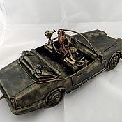 Сувениры и подарки ручной работы. Ярмарка Мастеров - ручная работа Jaguar XJS V12 с прицепом. Handmade.