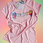 Одежда handmade. Livemaster - original item Hand-painted T-shirt