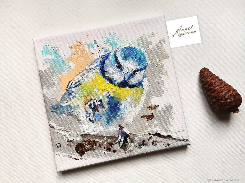 Диптих птахи, картины с синичками, Картины, Москва,  Фото №1