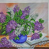 Картины и панно ручной работы. Ярмарка Мастеров - ручная работа Картины с цветами из бисера. Handmade.