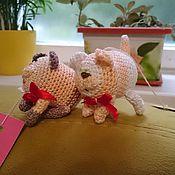 Куклы и игрушки ручной работы. Ярмарка Мастеров - ручная работа Милые зверята ищут хозяев). Handmade.