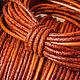 Для украшений ручной работы. Шнур кожаный (арт.к15) 2 мм, античный/винтажный рыже-коричневый. Bijoutura-2. Интернет-магазин Ярмарка Мастеров.
