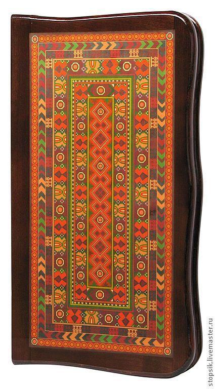Настольные игры ручной работы. Ярмарка Мастеров - ручная работа. Купить Нарды, шашки Азия (рамка из красного дерева (13461). Handmade.