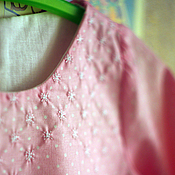 Работы для детей, ручной работы. Ярмарка Мастеров - ручная работа Хлопковая блуза (размеры 6 мес-9мес-1год). Handmade.