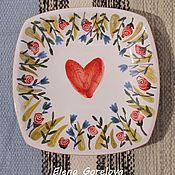"""Посуда ручной работы. Ярмарка Мастеров - ручная работа Декоративная тарелка """" Сердце"""". Handmade."""