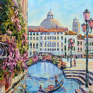 Картины и панно ручной работы. Ярмарка Мастеров - ручная работа Картина город Венеция, городской пейзаж заказать. Handmade.