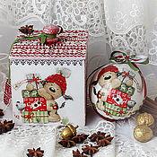 Подарки к праздникам handmade. Livemaster - original item Christmas set box and ball