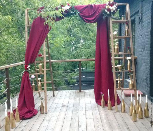 Деревянная арка лестница