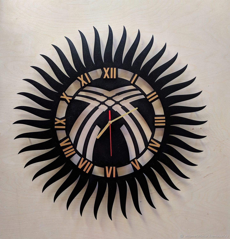 Wall clock made of metal, 40*40 cm, Watch, Ivanovo,  Фото №1