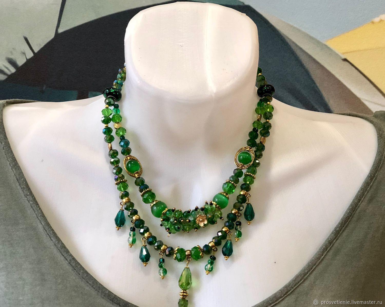 d5e7ccbd7e4 Elegant necklace of emerald fun, elegant green decoration
