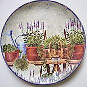 Посуда ручной работы. Ярмарка Мастеров - ручная работа Тарелка декоративная Прованские травы. Handmade.