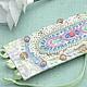 Браслеты ручной работы. Ярмарка Мастеров - ручная работа. Купить Браслет текстильный с вышивкой в пастельных тонах. Handmade. Роза