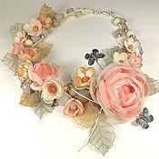 Украшения handmade. Livemaster - original item Breeze of Paradise Island. Necklace, brooch flower, removable floral decor. Handmade.